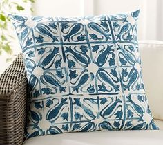 Seville Tile Indoor/Outdoor Pillow #potterybarn  (Got this)