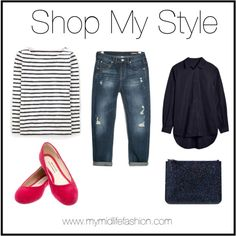 Navy, Stripes & A Pop Of Hot Pink www.mymidlifefashion.com