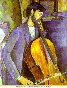 Amedeo Modigliani. Study for The Cellist. Olga's Gallery.