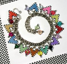 Bead Pattern - Hearts Le Rainbow Charm