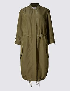 Buy the Modal Blend Longline Bomber Jacket from Marks and Spencer's range. Long Bomber Jacket, Khaki Jacket, Tailored Jacket, Coats For Women, Jackets For Women, Clothes For Women, Cashmere Coat, Boys Hoodies, Comfy Casual