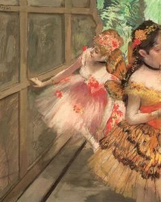 Degas: Dancers in the Wings, c. 1876-8. Pastel, gouache, distemper and 'essence' on paper, mounted on board. Norton Simon Art Foundation, Norton Simon Museum, Pasadena, California.