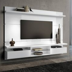 Modern tv wall unit white wood frame modern wall unit modern tv cabinet designs for living room Modern Tv Cabinet, Modern Tv Wall Units, Modern Shelving, Modern Wall, Tv Unit Interior Design, Tv Wall Design, Tv Unit Furniture Design, Tv Unit Decor, Tv Wall Decor