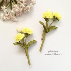 Crochet Jewelry Patterns, Crochet Accessories, Hair Accessories, Brooches Handmade, Handmade Flowers, Crochet Flowers, Fabric Flowers, Miniture Things, Flower Patterns