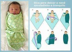 Como enrolar o bebê no formato charutinho para deixar o bebê mais tranquilo para dormir.