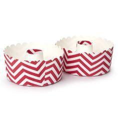 Robert Gordon - Paper Ring Cake Pan Set 2pce Red Zigzag | Peters of Kensington