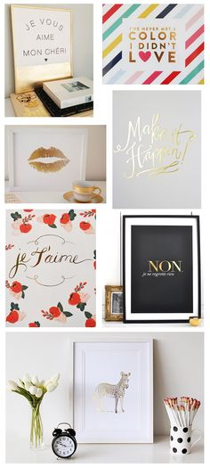 gold foil print round-up