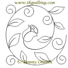 Hand Quilting Patterns, Floral Embroidery Patterns, Quilting Templates, Hand Embroidery Patterns, Free Motion Quilting, Embroidery Applique, Quilting Designs, Machine Embroidery Designs, Vine Border