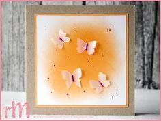 Stampin' Up! rosa Mädchen Kulmbach: neutrale Schmetterlinge im Ombre Look