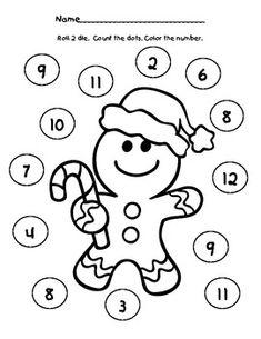 Gingerbread Dice Game Freebie!