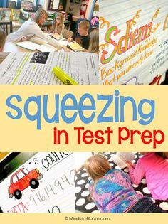 Squeezing in Test Prep - Wow, so many ideas to make test prep easier for both the teacher and the students!