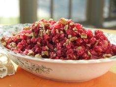 Cranberry-Orange Relish by Trishsa Yearwood. All you need is cranberries, oranges, sugar and pecans.