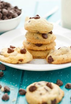 Homemade chocolate chip cookies from the 1989 Pillsbury Cookbook! Adjusted accordingly to make the best soft and chewy chocolate chip cookies ever!