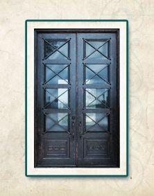 San Antonio Contemporary Iron Doors | Texas Wrought Iron Doors | Contemporary Iron Entry & Exterior Doors |