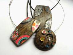 Necklaces by ORSON'S WORLD | Polymer Clay Planet  These are so pretty.