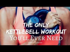 This kettlebell workout is the only one you'll ever need! If you want a total body workout that will burn fat and boost your metabolism, this is the one! Full Body Kettlebell Workout, Kettlebell Challenge, Kettlebell Cardio, Kettlebell Training, Kettlebell Benefits, Tabata, Workout Memes, Gym Workouts, Weight Routine