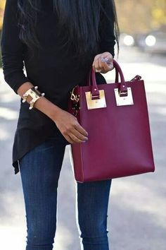 Love the color - Marsala is the Pantone color in fashion for 2015 - shades of wine will be on trend.
