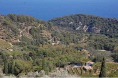 Looking down over the Samos landscape