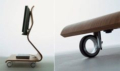 TV Stand with Wheels for Home by Mario Bellini