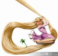 Fotoefectos película Enredados para enviar gratis online. Conviértete en Rapunzel.