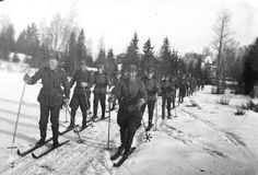 Ski patrol in Finland. These guys weren't patrolling the slopes, though, they were preparing for battle. Yep, Finland, the Soviet Union, Norway, and even the US all had troops trained for ski battle. The Soviets learned it from the Finns when, during the Winter War of 1939, they were beaten by ski warfare. The Soviets used the method, most notably during the Battle of Moscow.