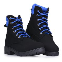 Twisted Women's Timmy High-Top Fashion Work Boots with Neon Color Details, Black, Size 7 Thing 1, Neon Colors, Hiking Boots, High Tops, Detail, Shoes, Black, Fashion, Walking Boots