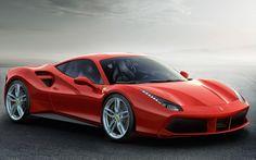 Ferrari - 488 Red Super Car Racing Car Concept 24X36 Inches Poster Z243