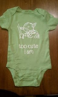 """too cute i am"" onesie"