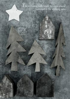 Christmas trees in dark grey | Xmas decoration . Weihnachtsdekoration . décoration noël | Design / Photo: april and May |