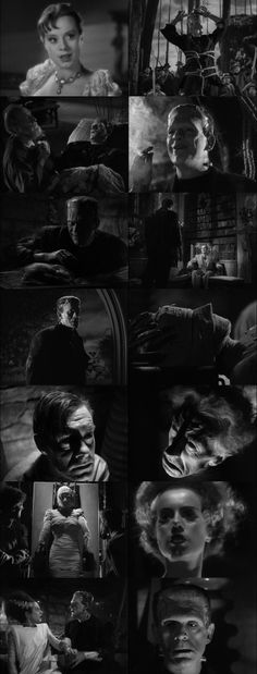 Bride of Frankenstein directed by James Whale. Classic Horror Movies, Horror Films, Horror Icons, James Whale, Frankenstein's Monster, Monster Mash, Horror Monsters, Famous Monsters, Bride Of Frankenstein