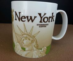Starbucks New York Collectors Series 16 oz. Mug Cup 2009 Lady Liberty #Starbucks