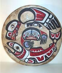 Image result for old tlingit drum museum