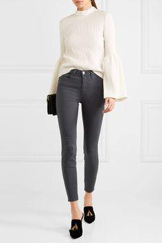 Dark-gray stretch-denim Button and concealed zip fastening at front 94% cotton, 4% polyester, 2% spandex Machine wash Designer wash: Stingray