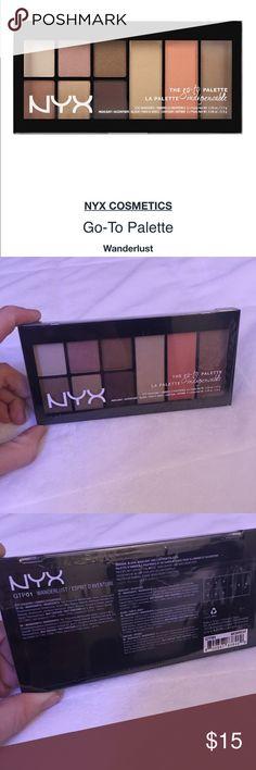 NYX Wanderlust Go - To Palette NWT New, sealed.   Six shadows, 1 illuminator, 1 blush, 1 contour. NYX Makeup Eyeshadow