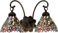 Meyda Tiffany 18722 2-Light Wisteria Wall Sconce