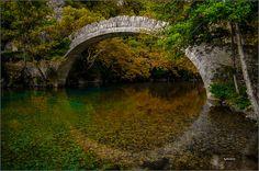 Γεφύρι της Κλειδωνιάς  - Klidonia's Bridge Bridge Builder, The Other Side, View Image, Cool Photos, Greece, Places To Visit, Old Things, River, Bridges