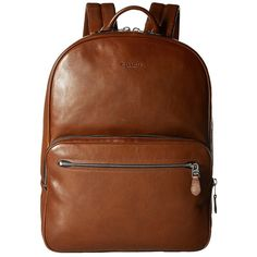 de3b10a9386d COACH Hudson 5 Backpack (SV Dark Saddle) Backpack Bags (710 CAD) ❤ liked on  Polyvore featuring men s fashion