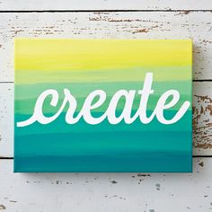 """In 2014, we're focusing on creating a better life through quilting--for  ourselves, our family, our friends, and our community. To remind ourselves of  this goal, we highlighted the word """"Create"""" in our own works of art. See what  we crafted and get inspired to make your own creative resolution this year!"""