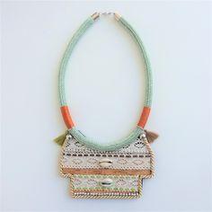 Bohemian Jewelry, Boho Necklace, Festival Necklace, Bib Necklace, Modern Jewelry, Fashion Necklace by MontradaCarolina on Etsy