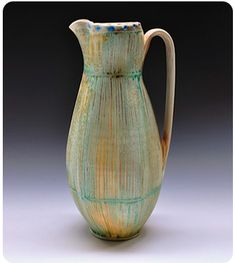 Artist Websites: I like this artist because I like a lot of the forms she makes and she also uses many interesting glazes. Ceramic Pitcher, Ceramic Teapots, Ceramic Pottery, Pottery Art, Pottery Ideas, Complex Art, Clay Design, Pottery Wheel, Ceramic Artists