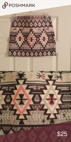NWOT Material Girl multi colored mini skirt Material Girl mini skirt. Multi colored and awesome pattern on skirt. Bought skirt, planned on wearing out but changed mind. NWOT.  Reasonable offers accepted. Please no trades. Material Girl Skirts Mini