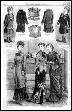 1881 Vintage Fashion Plates - Ladies Home Journal No.13 | Flickr - Photo Sharing!