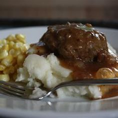Hamburger Steak with Onions and Gravy (Sounds suspiciously like salisbury steak...)