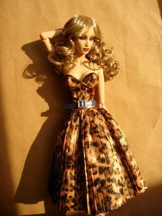 lovely animal print dress