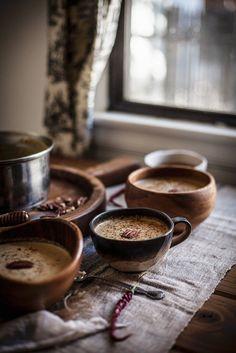 Maronen-Kürbis-Suppe mit Nüssen