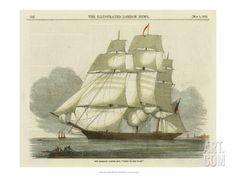 Art.fr - reproduction procédé giclée 'Antique Clipper Ship II'