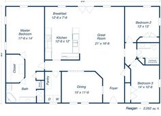 liberty floor plan - upper level (28' x 44' shown) - available in