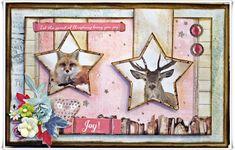 Jorunns fristed: Pyntet Toffifee eske i rosa Christmas Cards, Moose Art, Scrapbook, Animals, Christmas E Cards, Animales, Animaux, Xmas Cards, Scrapbooking
