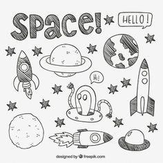 Bildergebnis für space theme bullet journal
