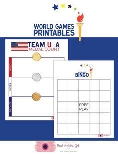 Print this Go for Gold in the World Games Free Printable Bingo and gather friends and family for a fun game as you cheer Team USA.